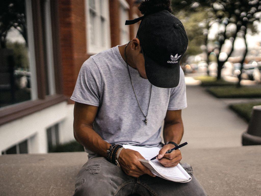 teenager journaling