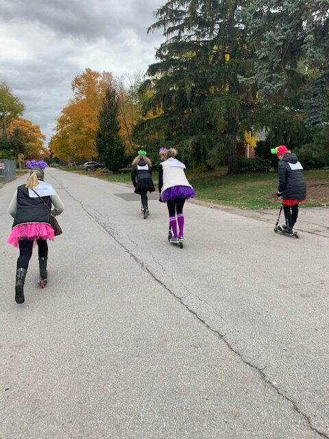 Tutus on Scooters cruising